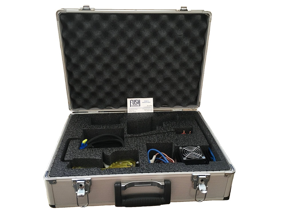 Aluminum Case with Foam Insert for Electronic Equipment Cut by FUSH Cases